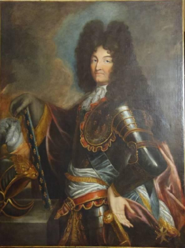 Collections musée Historique - Portrait de Louis XIV offert à la République de Mulhouse, fin du XVIIème siècle (©photo Haegele)