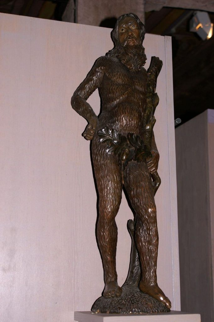 Collections musée Historique - L'homme sauvage, enseigne en bois du XVIIème siècle, détail (© Musée Historique)